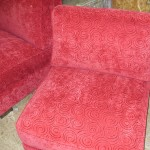 red chair upholstery