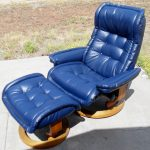 blue leather upholstery