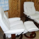 white leather upholstery