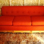 red couch upholstery
