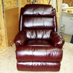 brown leather recliner upholstery
